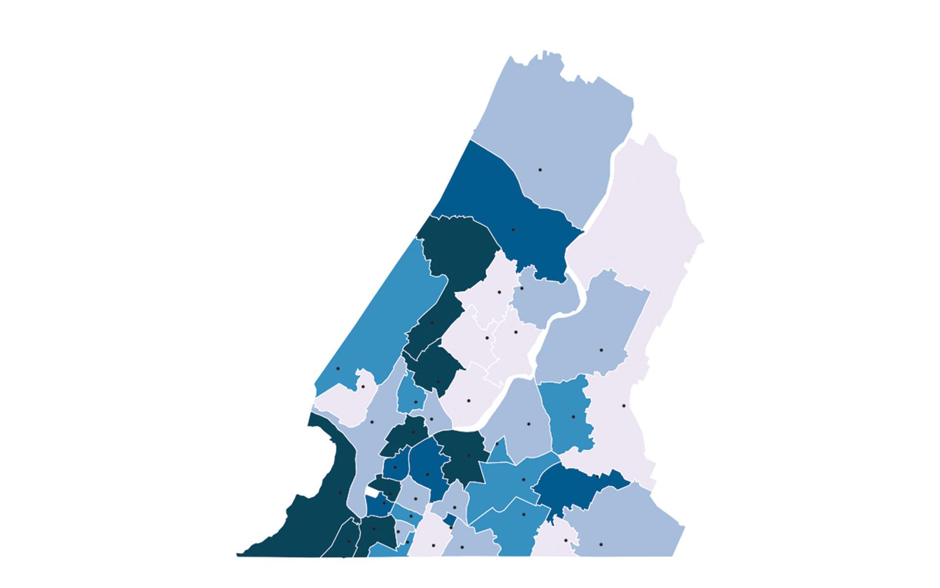 Map: Hamilton County spending — Metro Ideas Project on counties of atlanta georgia, counties of portland oregon, counties of jacksonville florida,