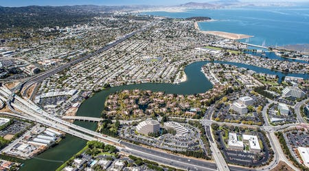Aerial view of San Mateo, California